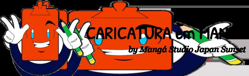 CARICATURA em MANGÁ
